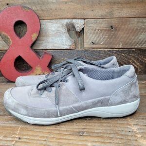 Proformance Dansko Grey Leather Lace Up Shoes